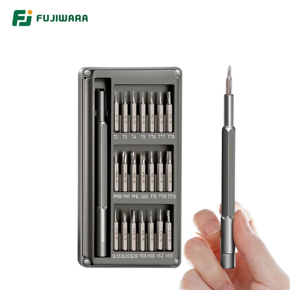 FUJIWARA destornillador 21 sets profesionales intensivo Apple Teléfono/ordenador/cámara/reloj Universal Multi-función desmontar herramientas