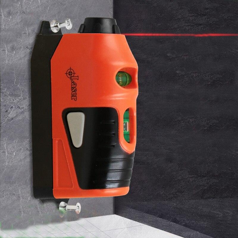 Mini Multi-funzione di Laser Linea Orizzontale Laser Gauge Strumento Laser A Infrarossi Elettrodo di Massa Con La Bolla per la Lavorazione Del Legno