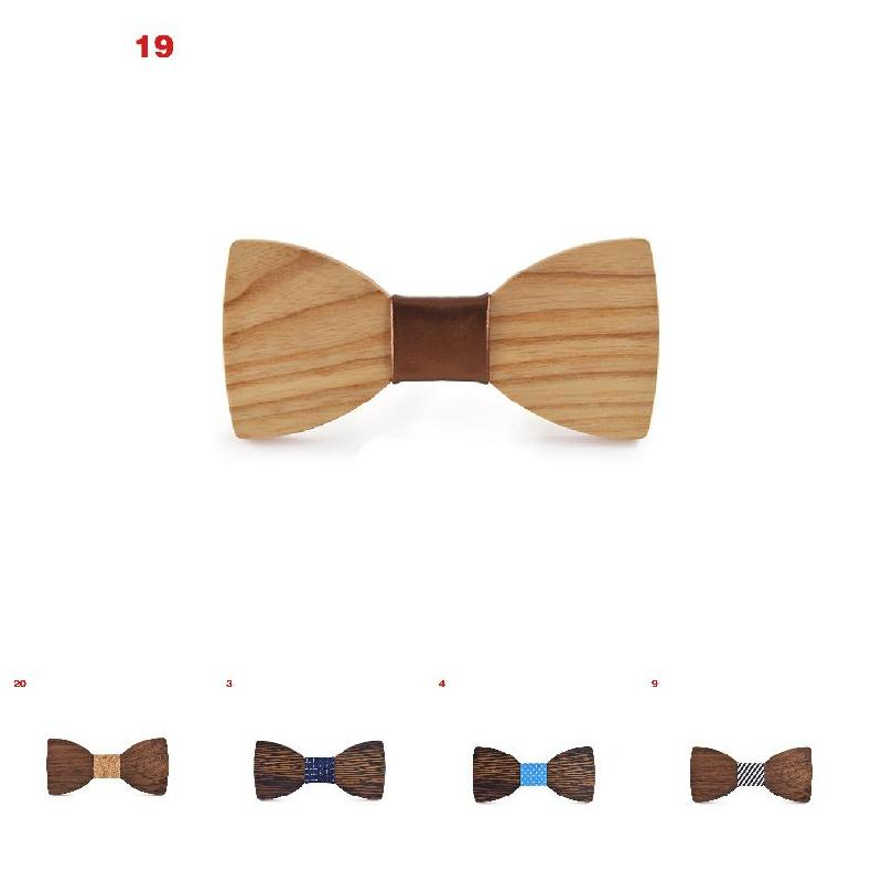 Men Handmade Wooden Bow Tie Butterfly Bowtie Marriage Wedding Party Business Accessories -MX8