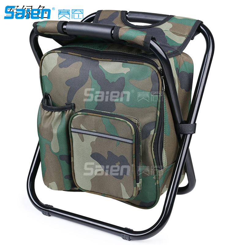 Tailgating Watching Sports Events Fishing Hiking Camping Stool Backpack,Fishing Cooler Bag Beach Chair for Camping Picnics,Backpack Foldable Chair,Pink