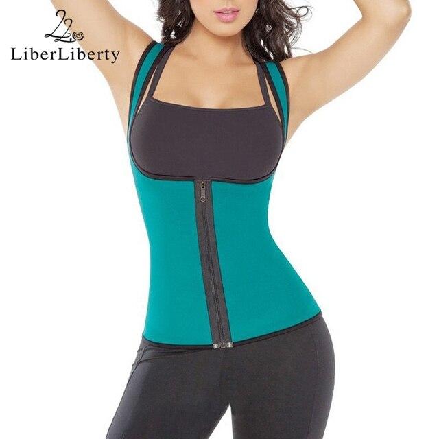 97f441f6d7 Women Body Shaper Slimming Vest Hot Shaper Neoprene Slimm Underwear  Shapewear Zipper Hot Shapers Waist Trainer Corset Underwear