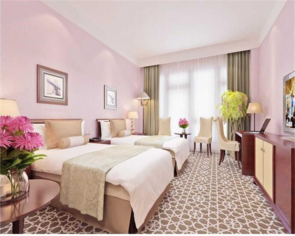 ورق حائط beibehang بطراز حرير عادي ورق حائط ثلاثي الأبعاد لغرف النوم وغرفة المعيشة ملابس الفندق أدوات المدرسة 5 ألوان ورق حائط