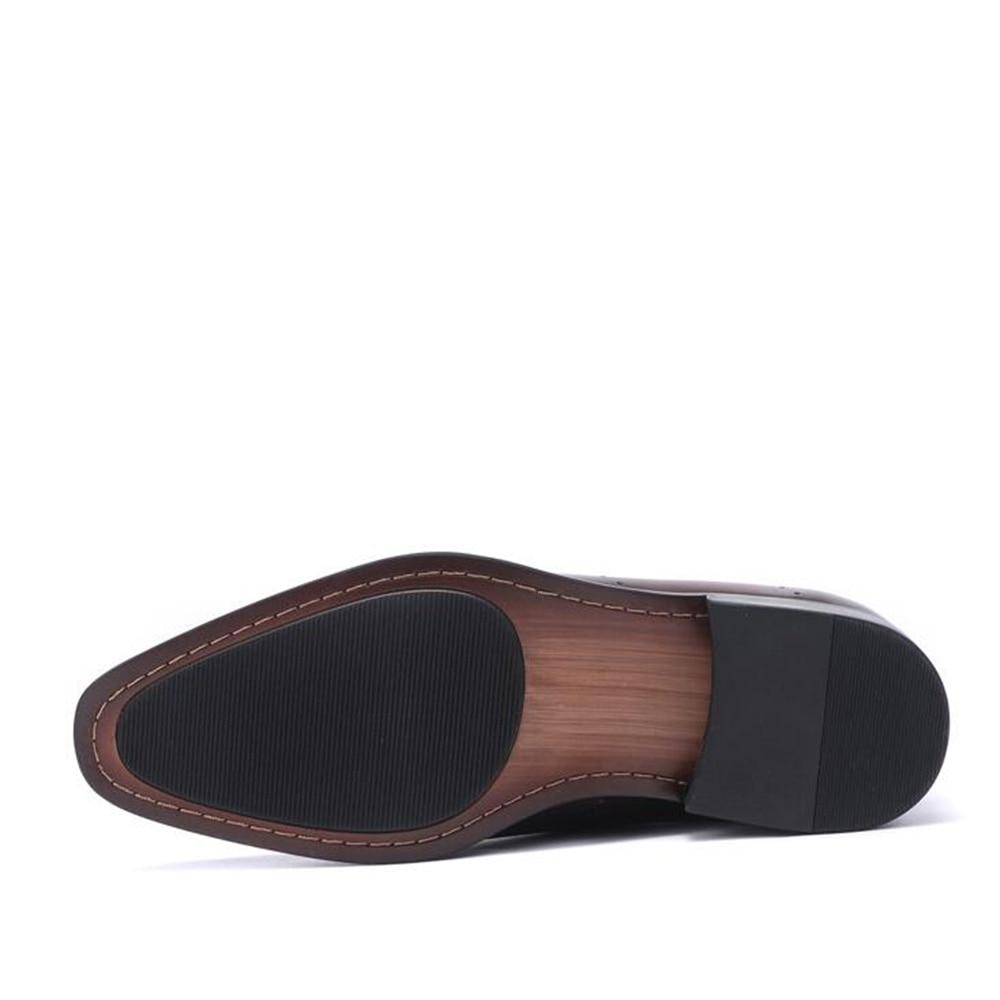 Escuro Brown Dos Marrom Sapatos Festa Designer De Sipriks Do Pátina Negócios Oxfords Noivos Vintage Preto Casamento Vestido Para Couro Homens dark Escritório T17wEx