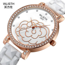 2019 hot sale Ceramic watch female fashion Korean version of the diamond waterproof ladies new quartz