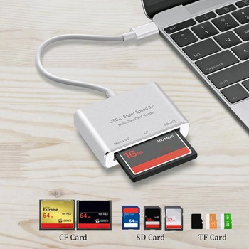 Multi All in 1 USB Type C to CF SD TF Camera External Card Reader for Macbook Pro Air 2018 Phone OTG USB-C Devices Super Speed