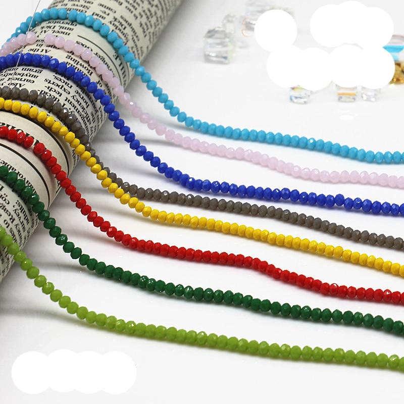 STENYA крошечный 2 мм рукоделие кристалл свободные бусины Rondelle граненый шитье ювелирных изделий Изготовление ювелирных изделий лук узел повязка на голову аксессуары