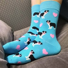 ORIGINAL heart Border Collie Gift Socks For Women fun dog socks lady cute crew socks crazy sox novelty 10/50pairs C-9K8