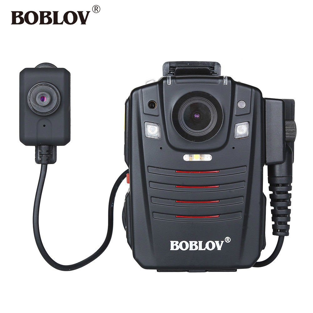 BOBLOV HD66-07 Ambarella A7L50 1296P HD Body Worn Camera 32GB Night Vision IR Camera Police vIDEO Recorder With External Lens 32gb full hd 1080p police body worn video camera recorder dvr ir night cam with 4g gps wifi function
