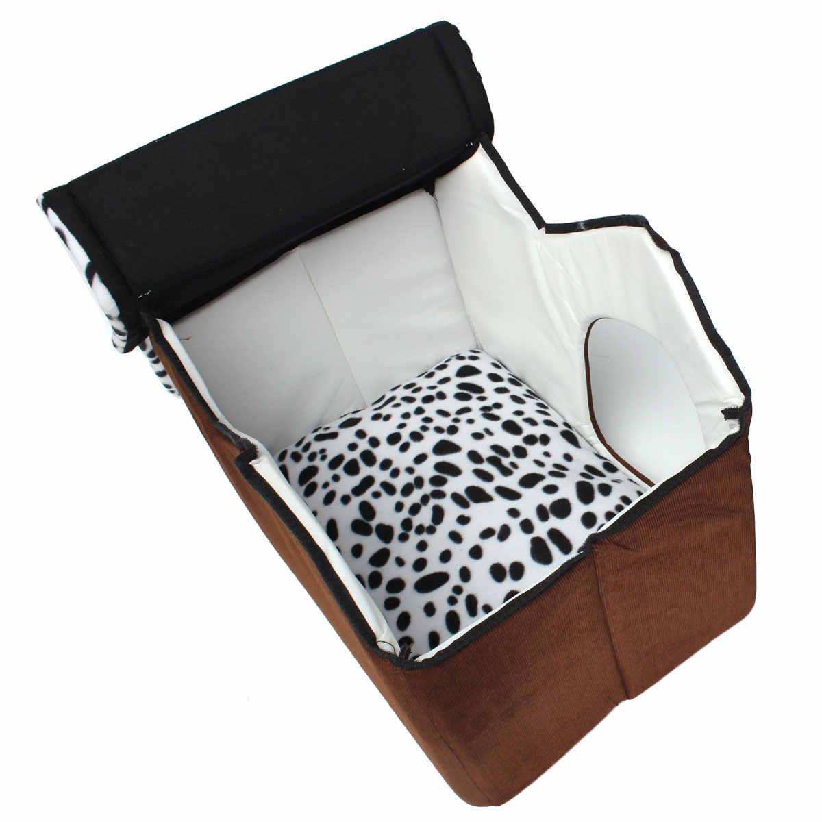 ポータブル 47.5 × 33.5 × 38 センチメートル高級スポットダブルトップ犬猫の睡眠ベッドウォームコージーセーター子犬 beding ホームパッド Cushioh