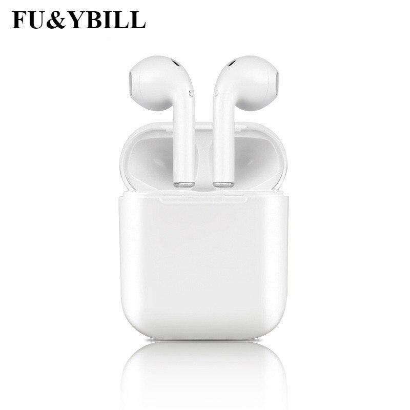 Fu y bill I9S auricular inalámbrico Bluetooth auricular Invisible Earbud auriculares para el IPhone 8 7 más 7 6 6 S y Android PK I7