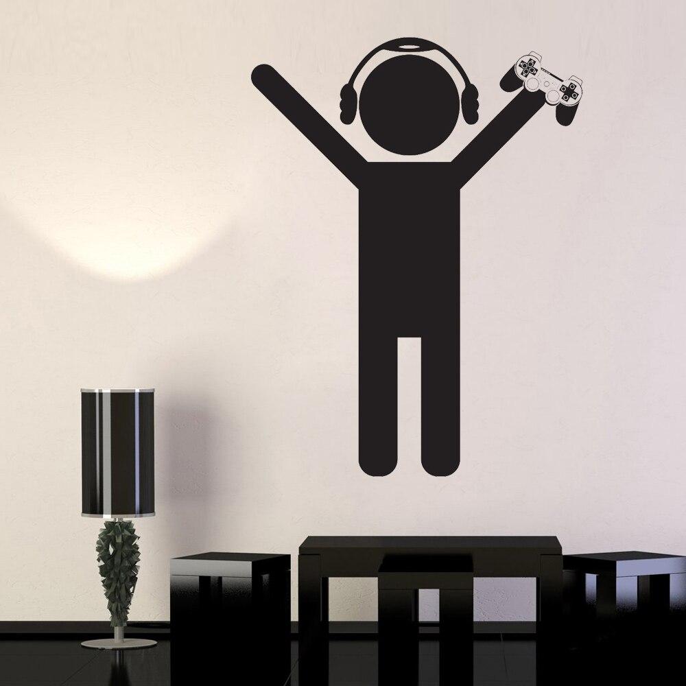 Прохладный удивительные Детские Декор Наклейки на стену геймер игровая детская комната орнамент винил съемные стенки этикета e-co дружестве...