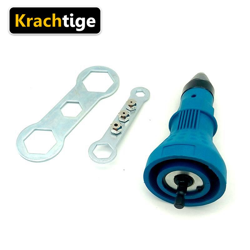 Krachtige Electric Rivet Nut Gun Riveting Tool Cordless Riveting Drill Adapter Insert Nut Tool Riveting Drill Adapter ootdty electric rivet gun tool nut