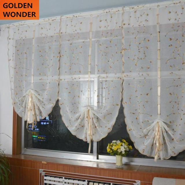 Beautiful Babysbreath Fresh Yellow Flower Balloon Curtain Rome Curtains For Living  Room Home Textile New Design