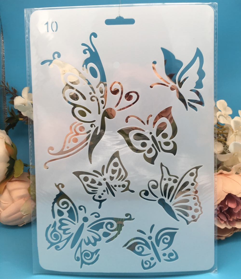 27.5X19cm Butterfly DIY Craft Layering Stencils Painting Scrapbooking Stamping Embossing Album Paper Card Template