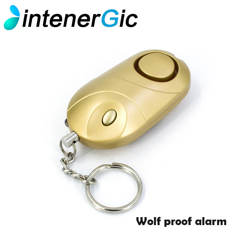 INTPersonal Alarm With LED Light 120DB Keychain Alarm Anti Lost Wolf Self-Defense Attack Emergency Alarms For Women Kids Elderly ...