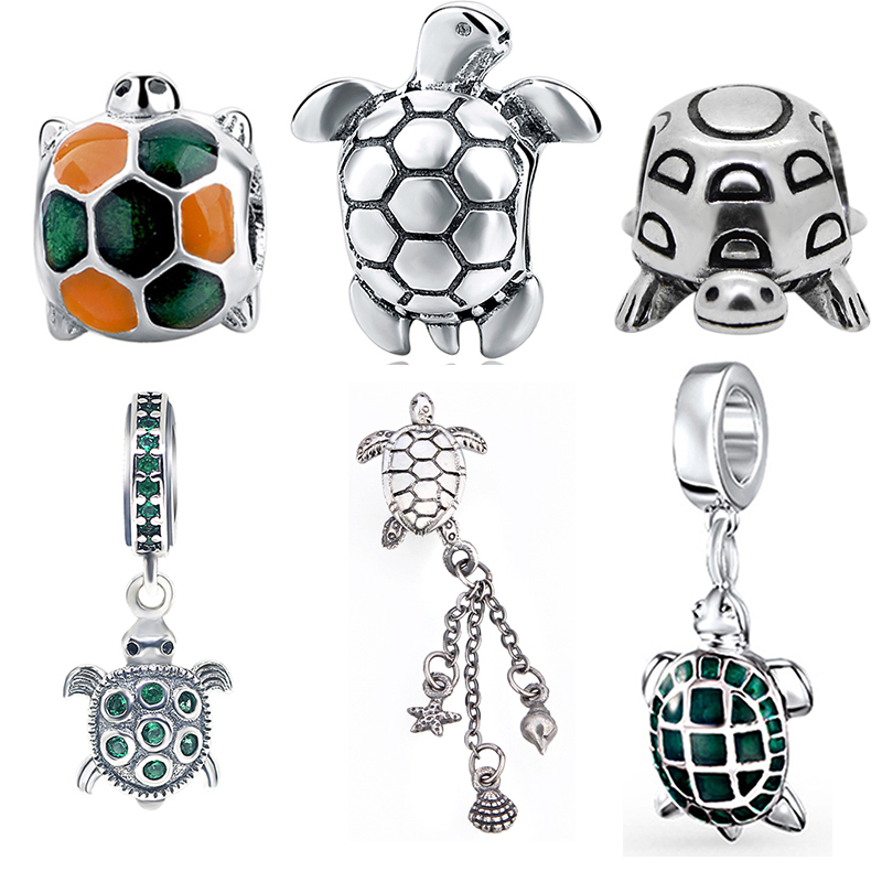 new arrivals cute animal tortoise collection pandora charms 925 silver beads fit authentic bracelet pendant diy fashion jewelry