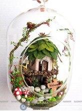 glass ball wooden doll houses miniature
