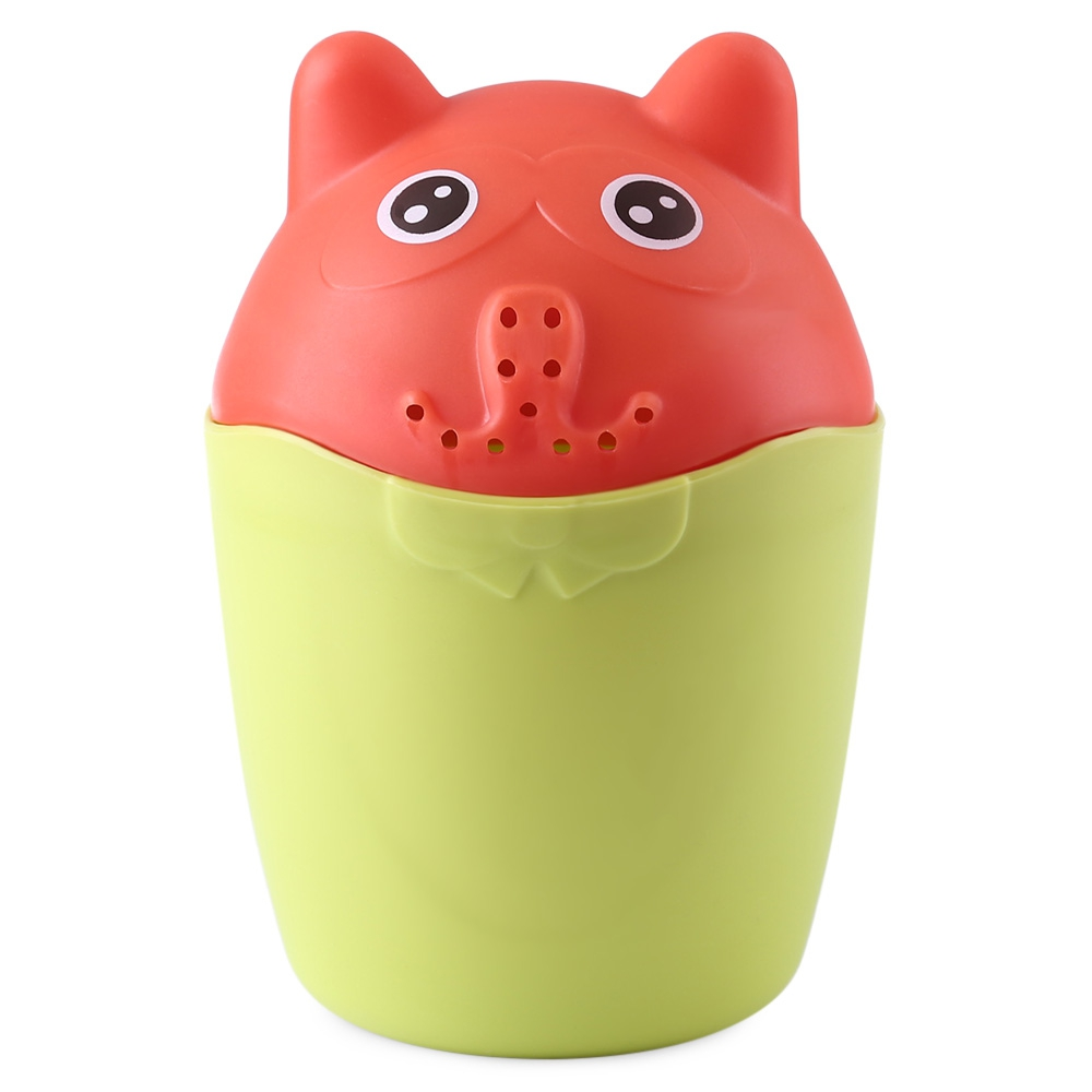 Baby Contrast Cute Bear PP Rinser Kids Children Shower Spoon Baby Tubs Bath Wash Cup Shampoo Cup Splashing Cup for Washing Head