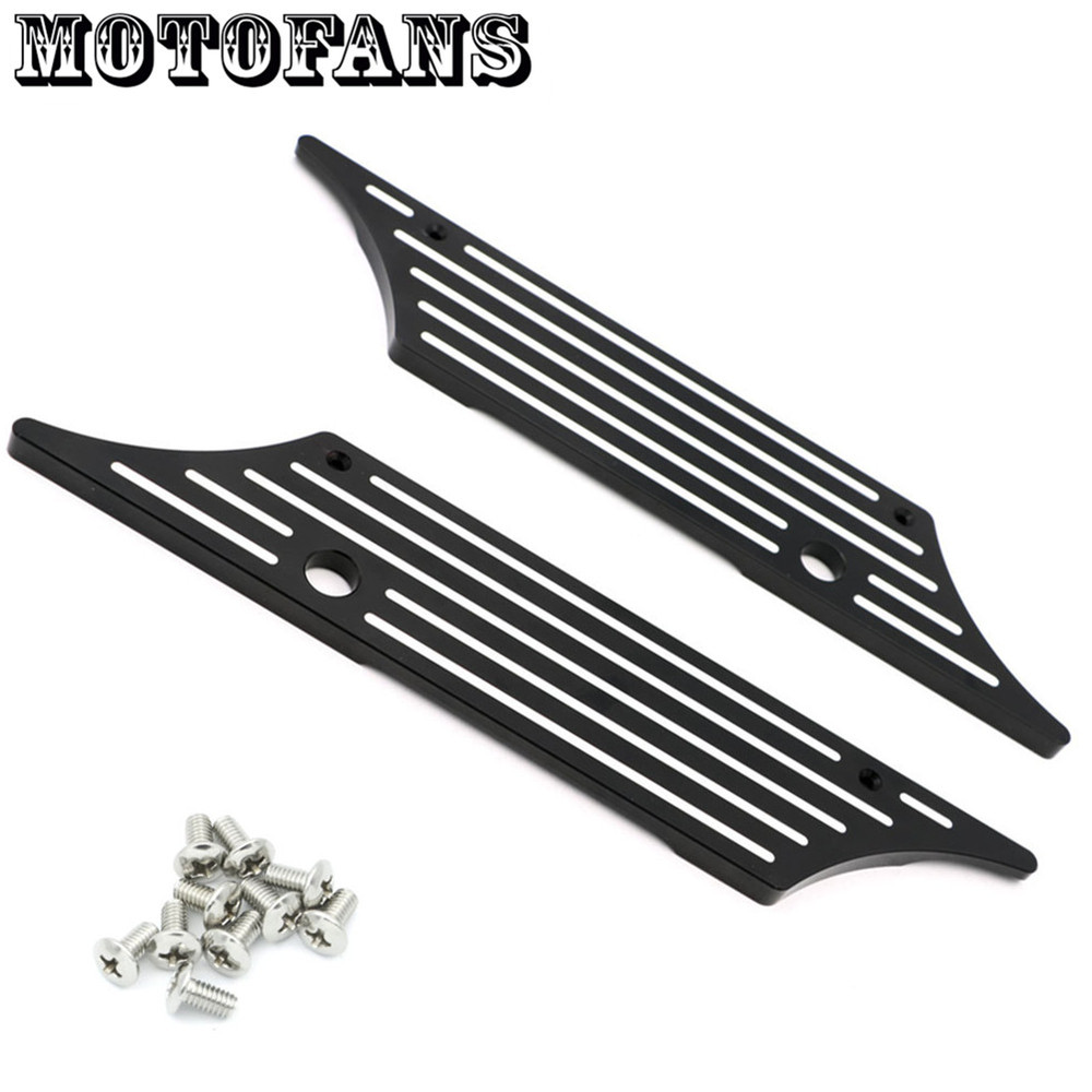 CNC Contrast Deep Cut Saddlebag Latches Cover Face Touring Hard Bags Mounting Screws for Harley Electra Road Glide 1993-2013