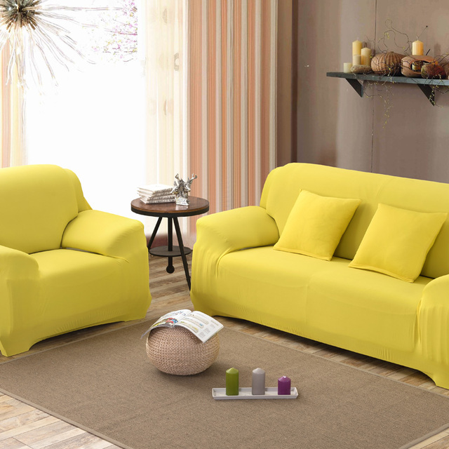 4 Size 5 Color Spandex Stretch Sofa Cover Elasticity Polyester Solid Colors Couch Loveseat