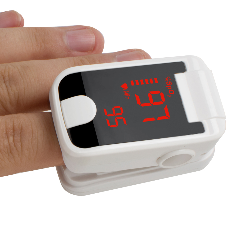New 8C1 Portable LED Finger Tip Pulse Oximeter Blood Oxygen SpO2 PR Monitor White Black