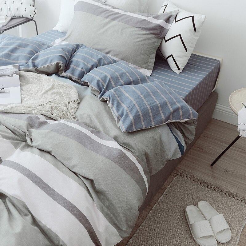 100% coton doux ensembles de literie linge de lit mode Simple Style ensemble de literie hiver pleine taille housse de couette ensemble de draps ensemble chaud - 4