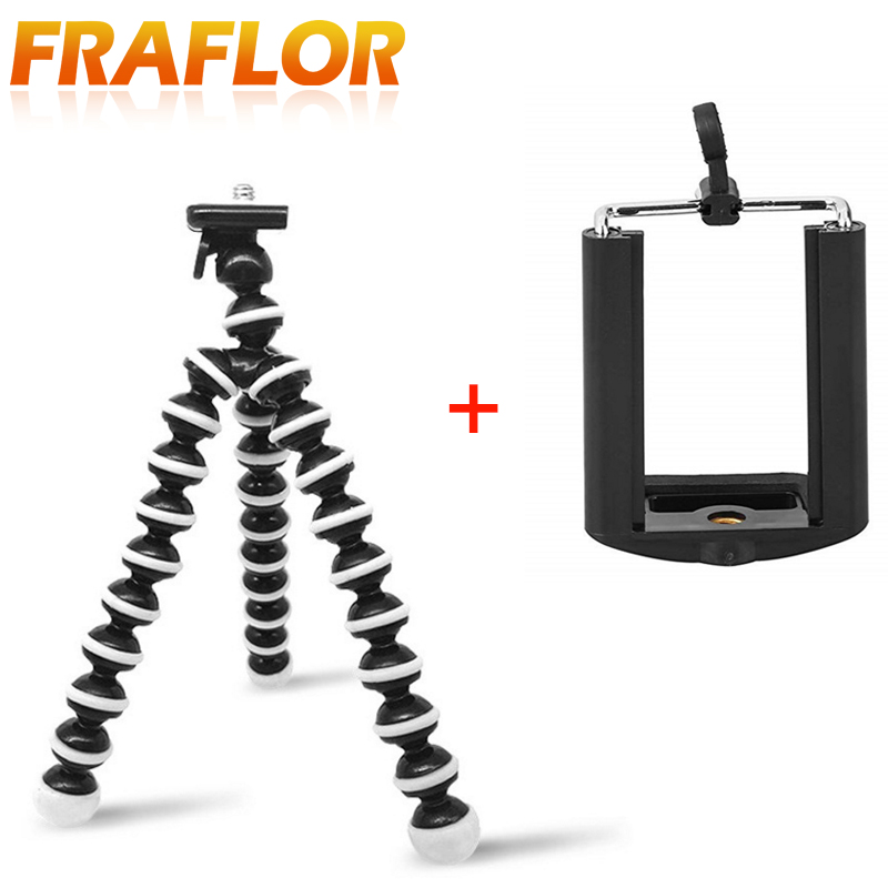 best loved 215a8 64c23 US $1.37 30% OFF|Small Flexible Octopus Tripod for Phone with Phone Clip  Tripod for IPhone 8 7 6 Dslr Gopro Xiao Yi 4K SJCAM Camera Stand Mount-in  ...