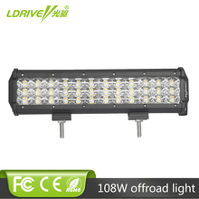 108W Offroad LED Work Light Bar 12inch Car SUV 4X4 Truck 4WD Wagon Pickup Driving Fog Lamp 12V 24V Tractor RZR Tri-row Headlight offroad 22 33 41 50 inch curved led light bar 12v 24v combo car suv truck tractor van camper 4x4 4wd wagon pickup driving lamp
