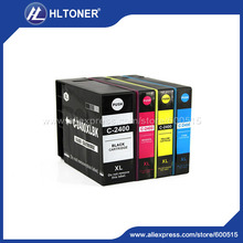 Compatible canon cartucho de tinta tinta de pigmento 4 unids pgi-2400xl pgi-2400 para maxify mb5040 mb5340 ib4040 tinta completo