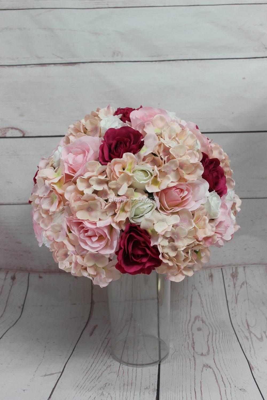 SPR !! Doprava zdarma 10ks / lot 40CM svatební cesta vést umělá květina míč stůl květiny vrchol koule květinové dekorace