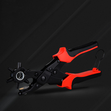 Multifunctional punch pliers. tool.Revolving  Leather. Cloth. perforation. Button. rivet. Eyelets.Belt Puncher Punch Round Hole punching pliers hole diameter 6mm hole puncher hit 1 8 page hand punch pliers