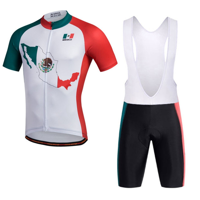 New Cycling Jersey Bib Shorts Set Ropa Ciclismo Outdoor Bicycle Clothing Short Sleeve Bike Wear Sets Sportswear Clothing S-4XL santic short sleeve cycling jersey bib shorts pad sets conjunto ciclismo manga cycling bike sports clothing mct031