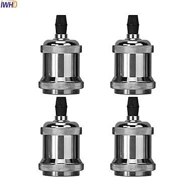 IWHD DIY Portalampada Vintage Edison E27 Lamp Holder Base Loft Industrial Style Douille Soquete E27 Socket Bulb holder