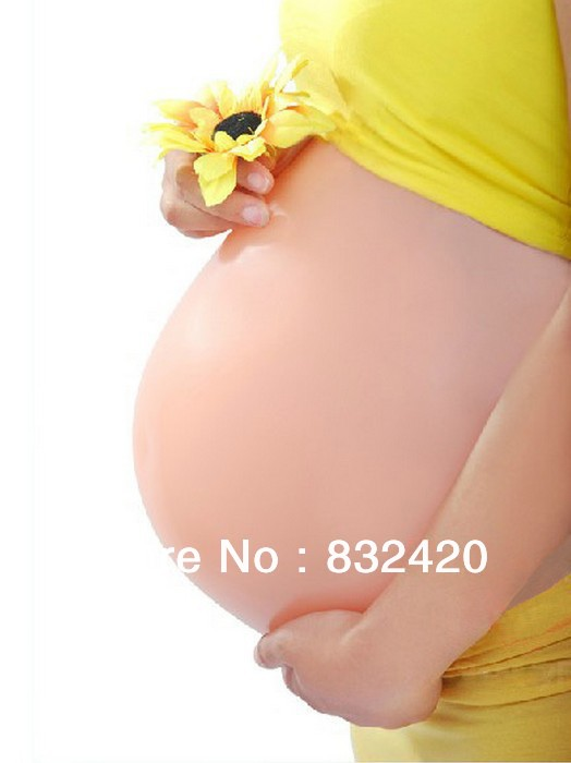 Christmas Promotion Silicone Fake Belly Artificial Belly Adoption False Pregnant Belly
