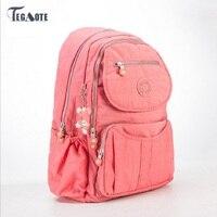 TEGAOTE 2018 School Backpack for Teenage Girls Nylon Women Backpack Solid Famous Casual Female Laptop Bagpack Mochila Feminine