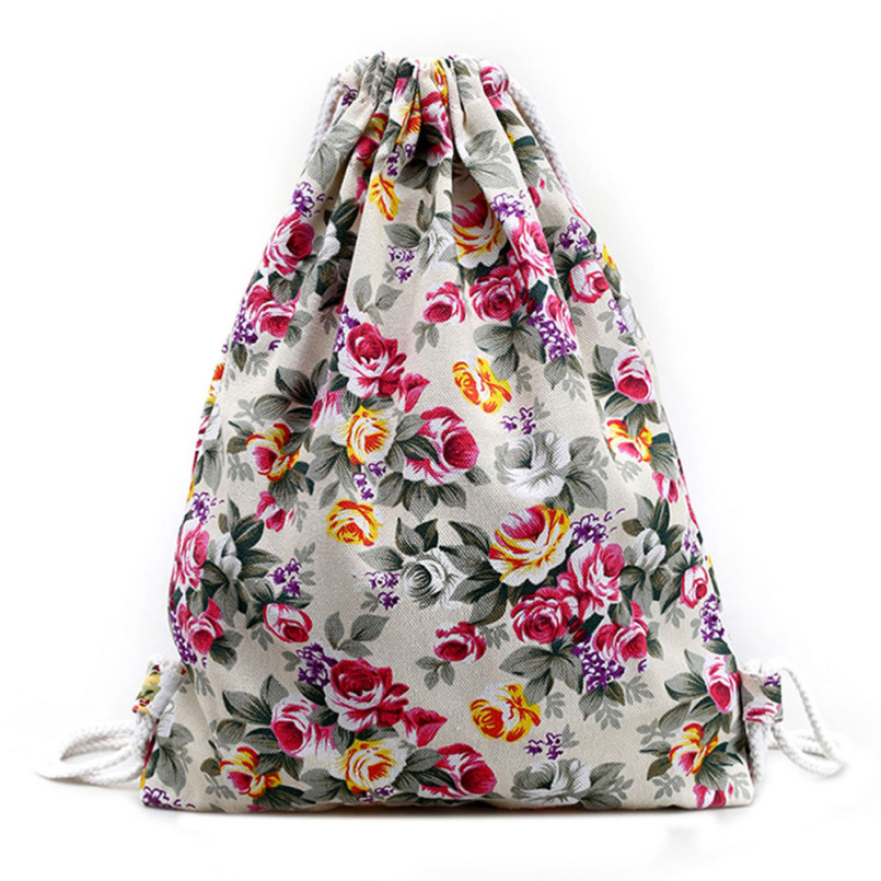Новая Мода 2016 НОВЫХ женщин Daypacks Печати Emoji Рюкзак Mochila Feminina Harajuku Drawstring Сумка Рюкзаки