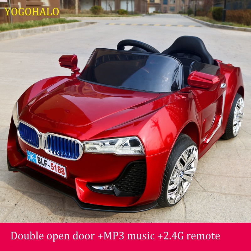 with 24g remote controller double open door kids ride on electric baby stroller four wheel dual drive music light sit car