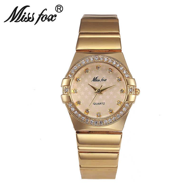 Relojes de moda para mujer, reloj de lujo de moda, reloj de pulsera de oro para mujer, 2017 logotipo de marca famosa, carcasa de perlas de cinco estrellas Bu reloj