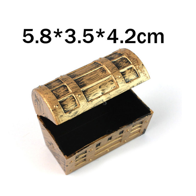 5.8*3.5*4.2cm Pirate Jewelry Storage Box Case Holder Vintage Mini Treasure Chest Birthday Gift Party Favor 100pcs ZA5683