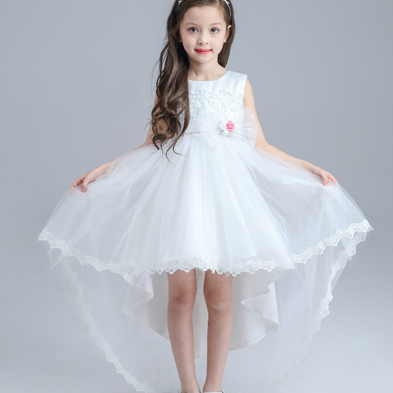 Girls Party Wear Clothing for Children Summer Sleeveless Lace Princess Wedding Dress Girls Teenage Well Party Prom Dress CE432 цена