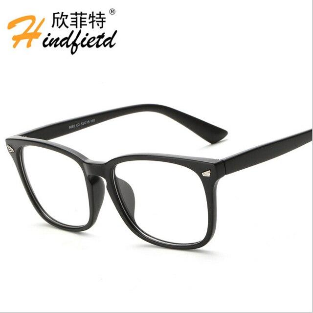 acabc621f8 Vintage Fashion brand Classic Plain Mirror Computer Reading eyewear Unisex  Eyeglasses for Women sunglasses Frame men 2016 new
