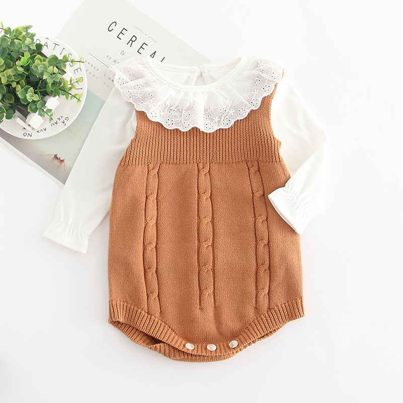 HTB1pIYtdi6guuRkSmLyq6AulFXaQ 2019 High Quality Baby Boy Knit Romper Girls Cute Crochet Rompers Toddler Brand Spring Suspender Infant Lovely Knitting Romper