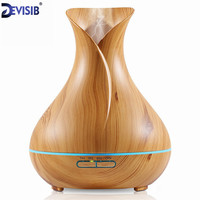 FEA 300ml Aroma Essential Oil Diffuser Wood Grain Ultrasonic Cool Mist Humidifier For Office Home Bedroom