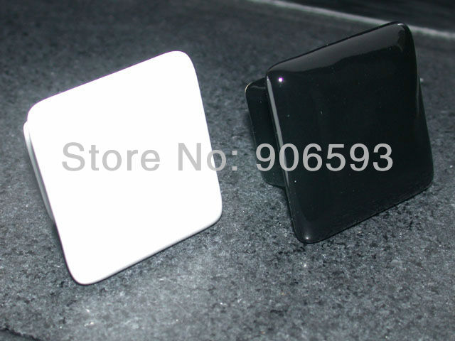 Купить с кэшбэком 24pcs lot free shipping black square porcelain drawer knobs