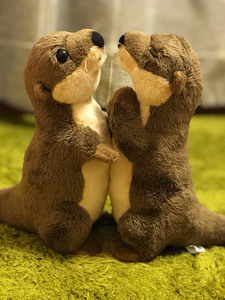 Image 3 - 18cm Standing River Otter Plush Toys Mini Size Real Life Otter Stuffed Animals Toys For Kids Birthday Gifts