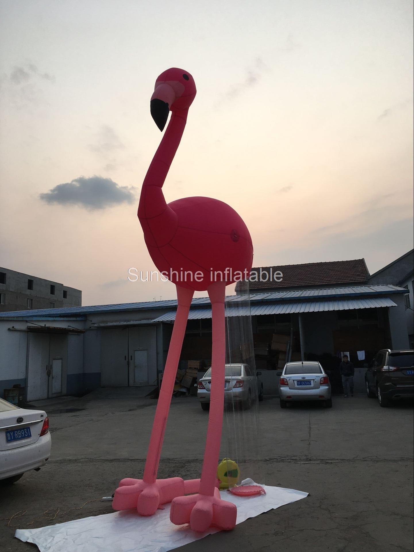 Aangepaste 5mH flamingo opblaasbare opblaasbare vogel met blower N ...