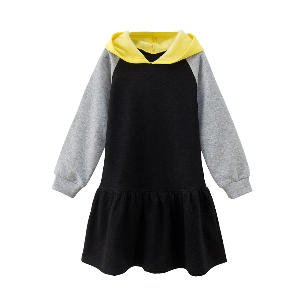 4 -14 yrs big girls casual school style hooded dress 2018 new winter autumn clothes thick warm teenage girls long sleeve dresses sweater dress new autumn winter women warm thick turtleneck sexy knitted dress long sleeve casual bodycon dresses vestidos ab410