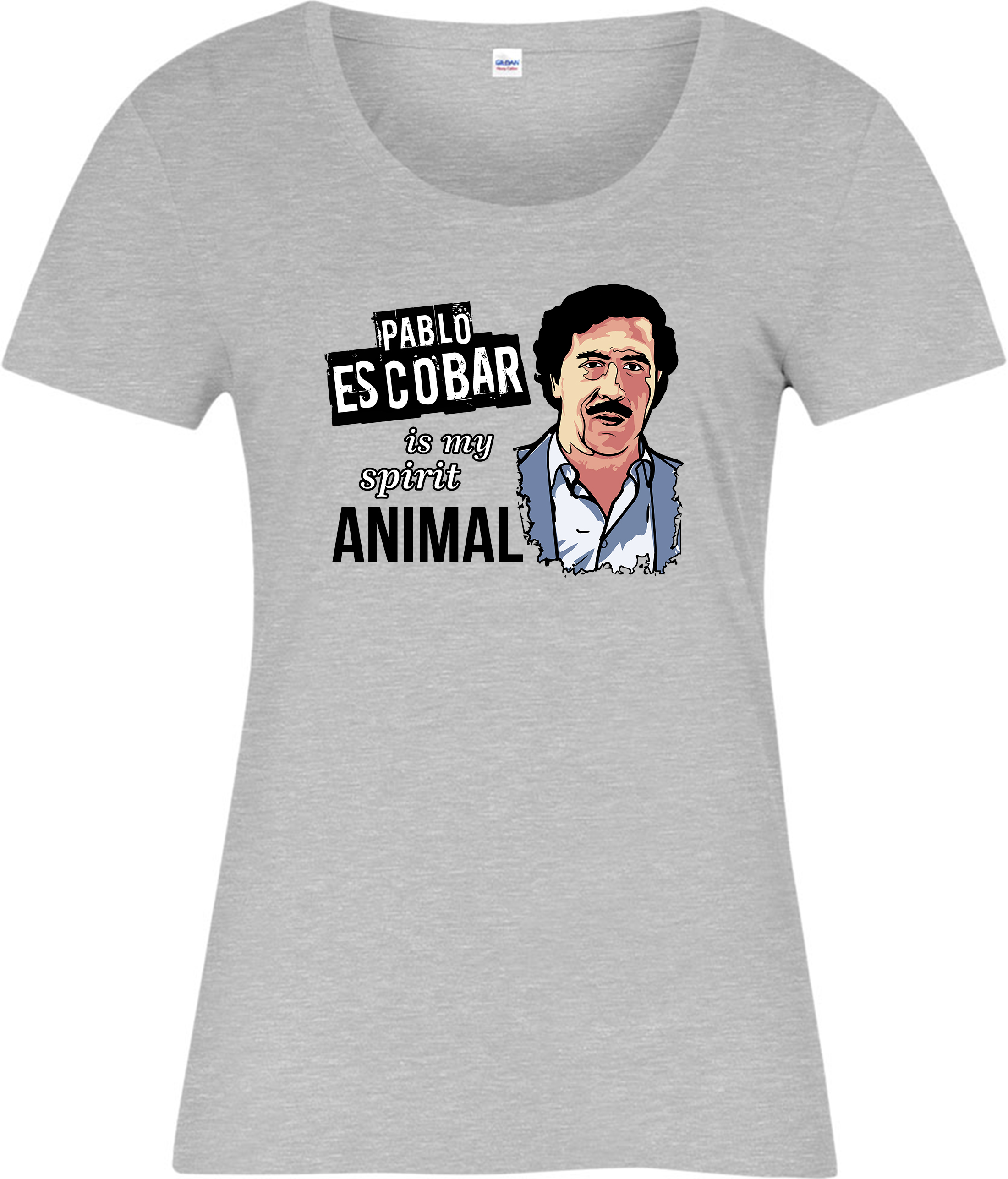 2019 Modo Caldo Di Vendita Di Pablo Escobar È Il Mio Spirito Animale T-shirt, Spirito Animale Parodia Del Regalo Delle Signore Top Tee Shirt