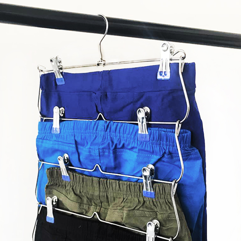 Six layers Multifunctional Foldable Clothing Hanger For Skirt Pants Sock Dress with Non-slip Clip Dropshipping 2019Six layers Multifunctional Foldable Clothing Hanger For Skirt Pants Sock Dress with Non-slip Clip Dropshipping 2019
