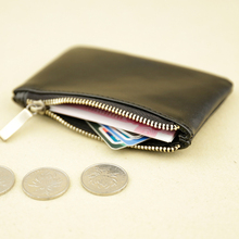 10PCS / LOT Zipper Coin Genuine Leather Wallet Men Women Card Bag Vintage Retro Short Purses Thin Mini Handbag